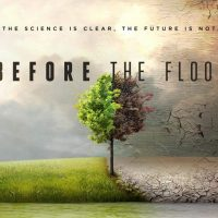 Poster van Before the Flood, klimaatfilm door Leonardo DiCaprio.