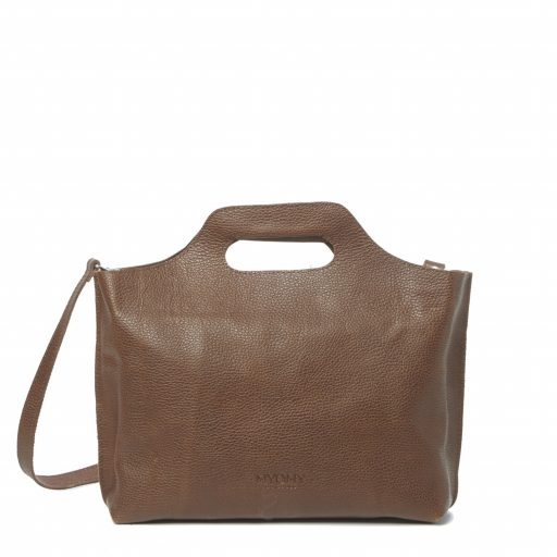 Myomy Carry Handbag, duurzaam gelooid leer, fairtrade geproduceerd.