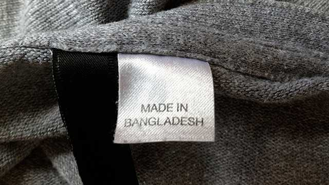 Clothes Label Made in Bangladesh